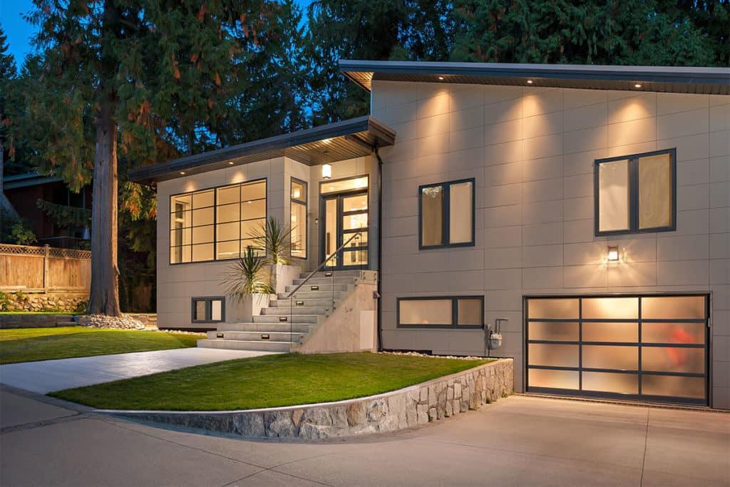 exterior home renovation west vancouver