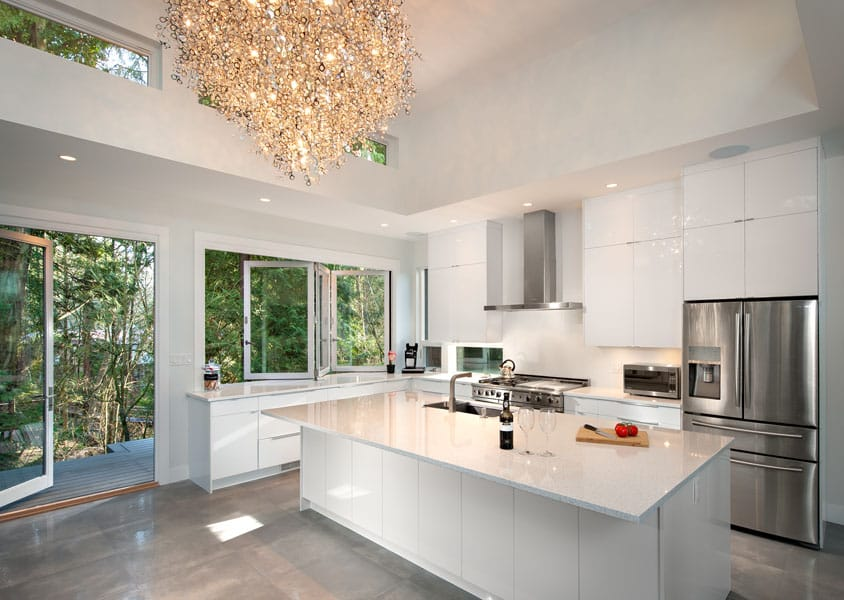 Luxury after lights kitchen renovation Doran in North Vancouver BC Shakespeare Homes