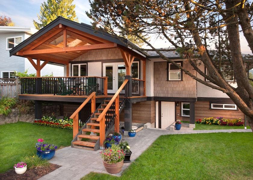 front home renovation Forrest exterior