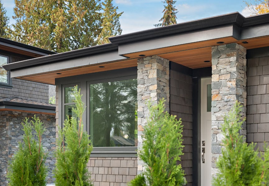 Door custom modern house - Shakespeare Homes renovations Vancouver North and West