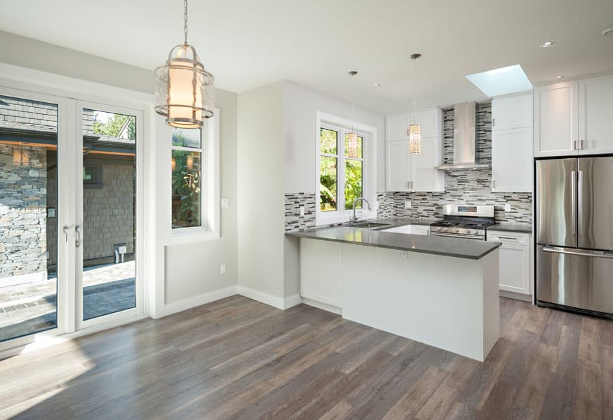 Contemporary white kitchen - Shakespeare Homes renovations Vancouver North and West