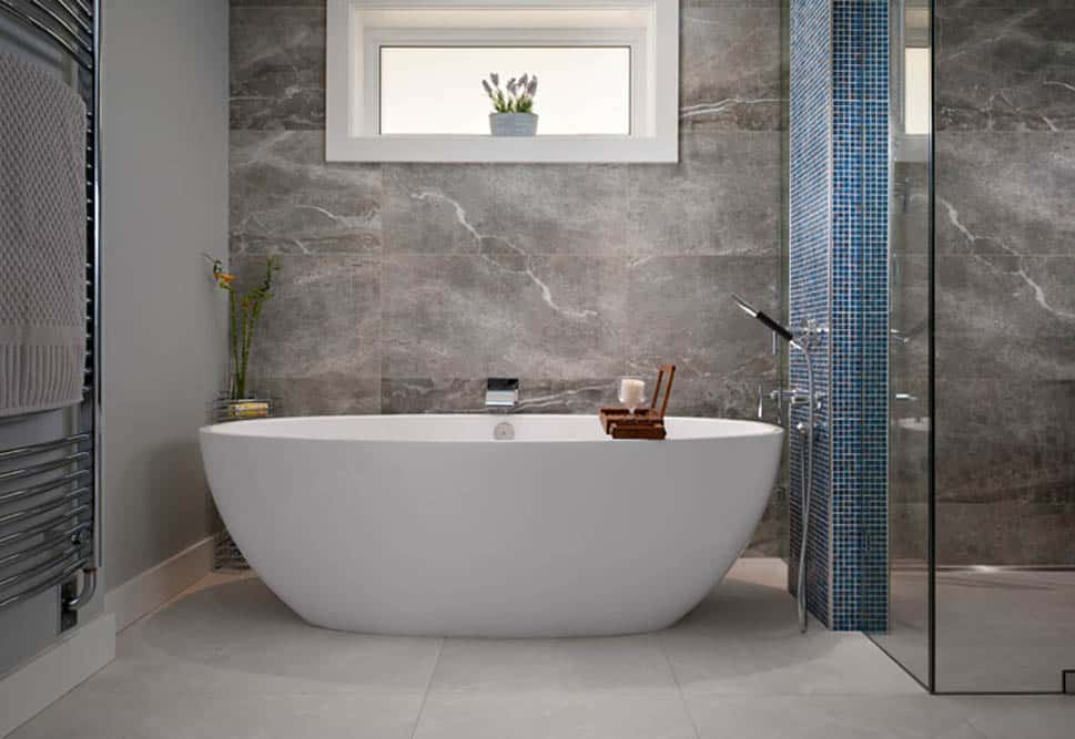 Luxury Bathroom with Bathtub - Shakespeare Homes renovations Vancouver North and West