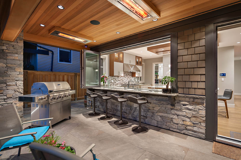 Outdoor kitchen and BBQ area - Shakespeare Homes renovations Vancouver North and West