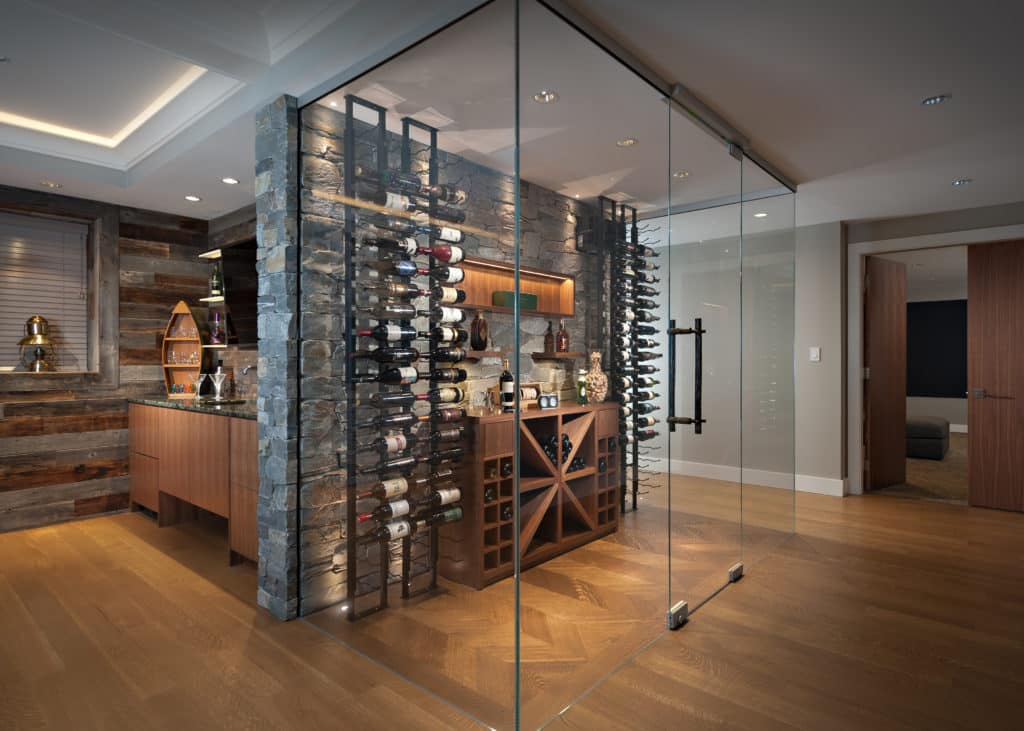 home reno wine cellar