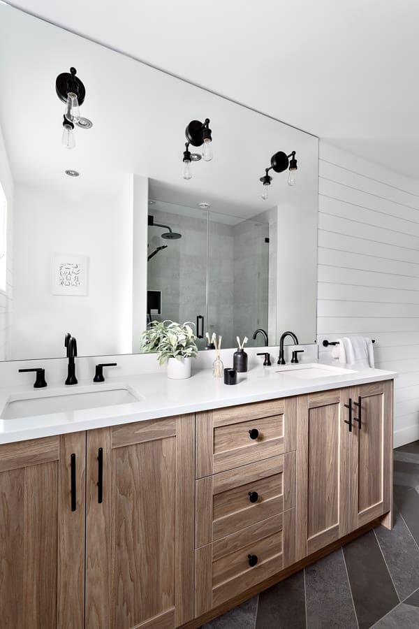 kitchen renovations from Shakespeare Homes Renovation modern bathroom renovation in Lynn Valley North Van
