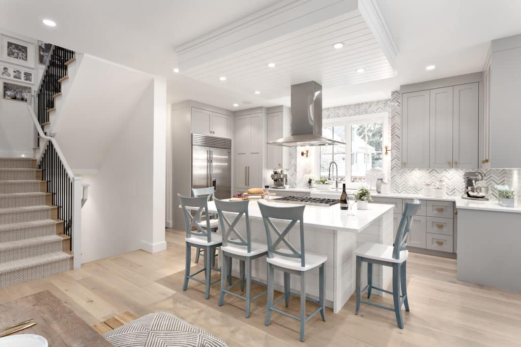 north vancouver home renovations kitchen island image